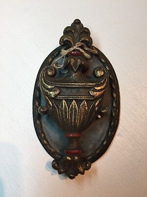 Antique Urn Door Knocker with Oval back plate