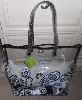 Vera Bradley Clearly Colorful Tote in Midnight Paisley NWT $58  15816-201