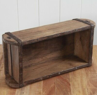Vintage Brick Mould, Wooden Storage Tool Box Small Wood Shelf Antique Crate Case