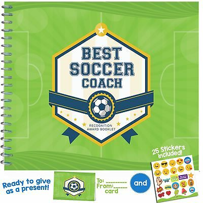 "SOCCER GIFTS - Recognition Award Booklet for Being the ""Best Soccer Coach"". I..."