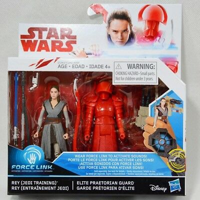 Star Wars The Last Jedi Force Link Rey & Elite Praetorian Guard 2 Pack - MIB