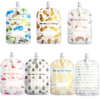 New 150ml Sinchies Reusable Food Pouches BPA Free Child, Adult, Camping 5/10/20