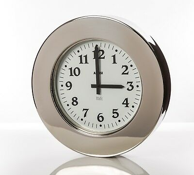 Alessi Momento 11 Wall Clock design Aldo Rossi 18/10 Stainless steel mirror