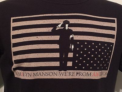 Marilyn Manson We're From America Heavy Metal Rock Band Concert Tour T Shirt L