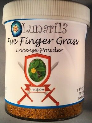 Five Finger Grass, Witch's Weed, Incense, Powder, Lunari13, 1 3/4oz, Wicca,