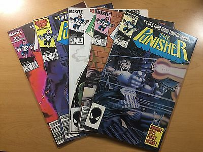 MARVEL Comics THE PUNISHER #1 2 3 4 5 COMPLETE Key LIMITED SERIES Ships FREE!