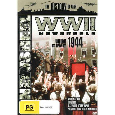 WWII News Reels: 1944 - Volume 5 NEW DVD (Region 4 Australia)