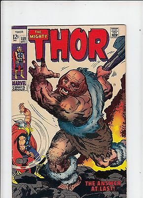The Mighty Thor #159 VG Kirby!  (Marvel 1968)
