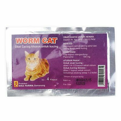 WORM CAT - Dewormer Allworms Round and Tap Worm Free for CAT PET - 4 Tablets #1