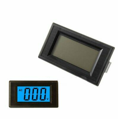 4-wire 3 1/2 Digital Blue LCD AC 0-500V Volt Panel Meter voltage power supply
