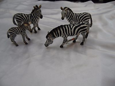 Schleich Zebra Male, Females, and Foal Retired Wild Life Figures W/Tags