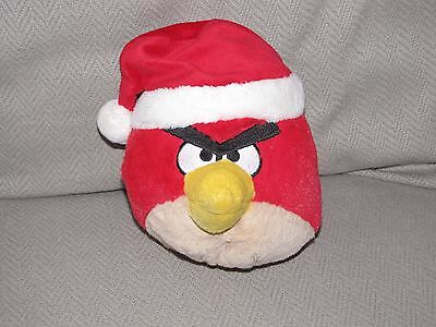 Angry Birds Christmas Red Bird Wearing A Santa Hat Plush 5