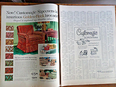 1956 Comfy Manufacturing Co Ad  Now Customagic Slipcovers Chairs Sofas