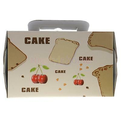 MagiDeal 10pcs Paper Cherry Portable Baking Food Cake Boxes Gifts Boxes