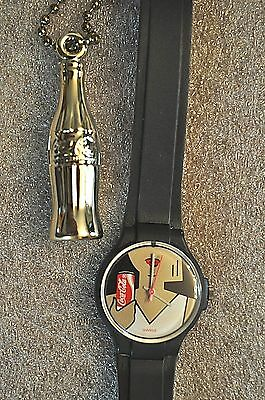 Ladies Coca-Cola Swiss Watch With A Woman Holding A Coca-Cola  New Battery