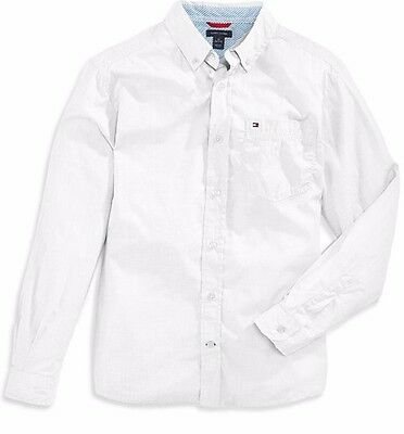 Tommy Hilfiger Boys White Button Down Shirt New 5