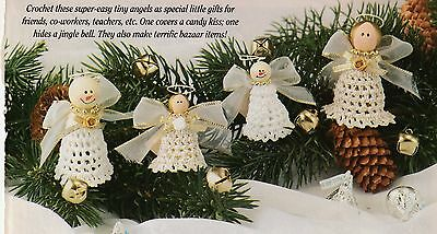 ~ ~ ~ Crochet * *  Pattern Only ~ Christmas Angels In July  ~ Very Pretty ~ ~ ~