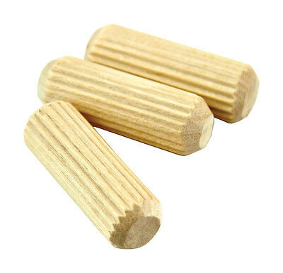 "NEW! WOLFCRAFT Fluted Birch Dowel Pin 1/4""  36-Pack! 2910405"