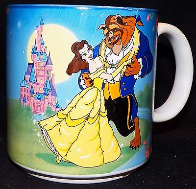 Vintage Retired Disney Beauty And The Beast Belle Dance Retired Coffee Mug Cup