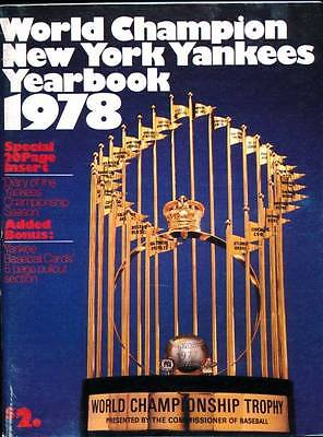 World Champion New York Yankees Yearbook 1978 c/w Pullout Baseball Cards Section