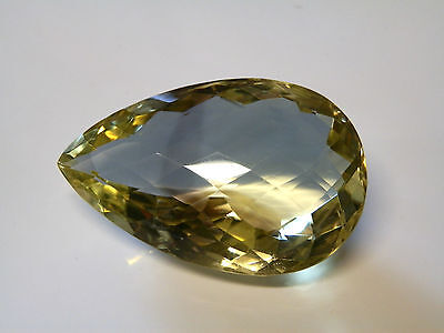 Very large natural certified citrine tear-drop gemstone...151.21 Carat