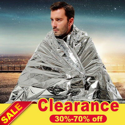10*Emergency Solar Blanket Survival Safety Insulating Mylar Thermal Heat Blanket