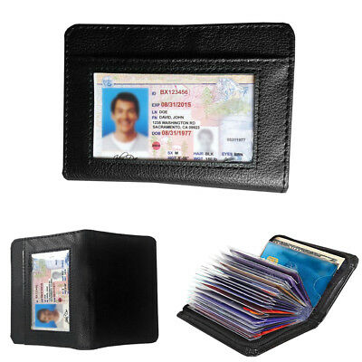 New 36 Cards Cash Lock Wallet - Leather RFID Blocking Wallets