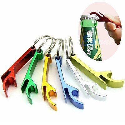 10 Pcs Bottle Opener Key Ring Chain Keyring Keychain Metal Beer Bar Tool Claw