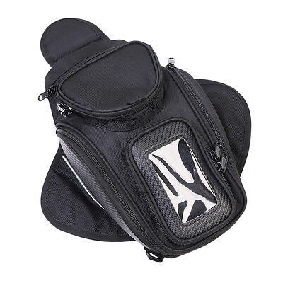 Black Universal Waterproof Magnetic Motorcycle Motorbike Oil Fuel Tank Bag