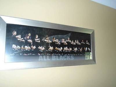 All Blacks rugby team framed poster