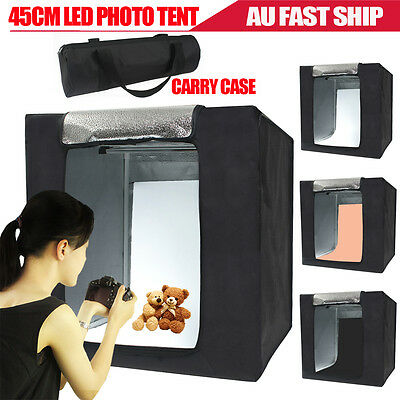 Portable 45CM Photography Studio LED Lighting Shoot Light Tent Soft Cube Box Kit