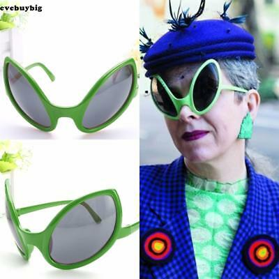 Funny Halloween Green Alien Costume Glasses Sunglasses Mirrored Bug Eyes