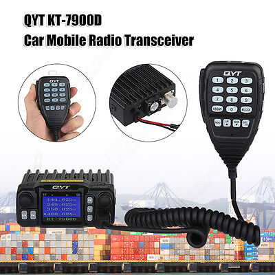 QYT KT-7900D Quad Band Car Mobile Radio Transceiver 25W 400-480Mhz W/ Microphone