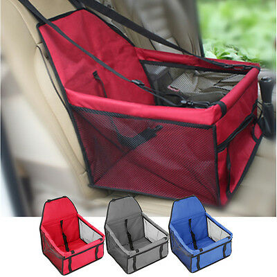 Portable Folding Pet Dog Cat Car Seat Safe Carrier Kennel Puppy Belt Bag Travel