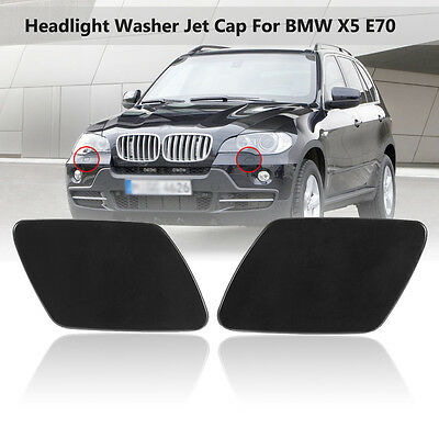 Front Headlight Washer Nozzle Cap Cover For BMW X5 E70 51657199141 51657199142