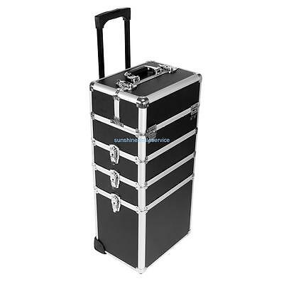 Beauty Trolley Makeup Vanity Case Artist Hairdressing Box Nail With 6 Locks