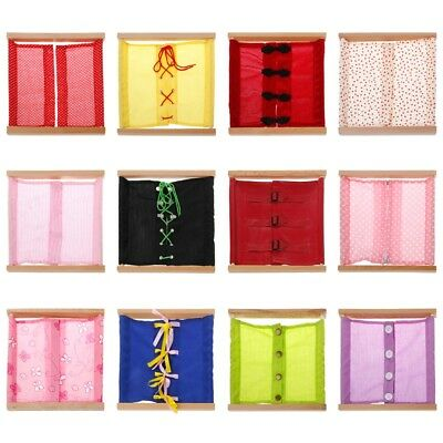 Montessori Lace-up Clothing Box Early Learning Toys Teaching Aids Gift Baby Kids