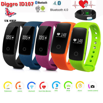 Diggro DI04 Bluetooth Smart Watch IP68 5ATM Pedometer Phone Mate for Android IOS