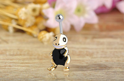 Navel Belly Bars Crystal Dangly Body Piercing Belly Button Ring cartoon turtle