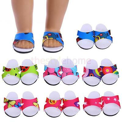 """MagiDeal Beach Sandal Slippers Shoes For 18"""" American Girl Doll Clothes Summer"""