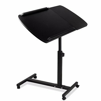 Mobile Laptop Desk Adjustable Notebook Computer iPad PC Stand Table Tray Bed #S