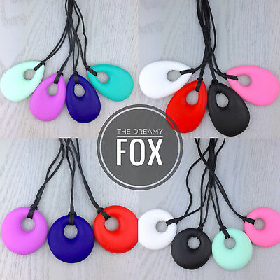 Autism adhd silicone necklace baby teething teether chew chewy chewie