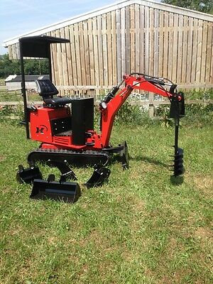 Micro Mini Excavator AX36 PRO with 3 Buckets and 8in Auger Drive Brand New