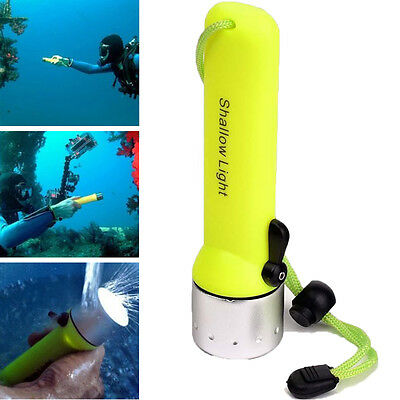 Hot Underwater XM-L T6 LED Scuba Diving Flashlight Torch Light 50M Waterproof