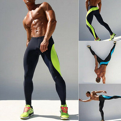US Gym Mens Compression Fitness Tights Base Layer Stretch Sports Running Pants