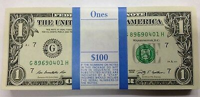 Billet Dollar USA Liasse 100 billets de 1 dollar NEUF Etats-unis 2013
