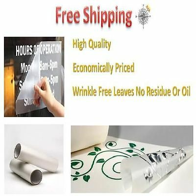 "Clear Paper Transfer Tape Roll Backing Paper for vinyl crafting Tape 12"" x 30'"
