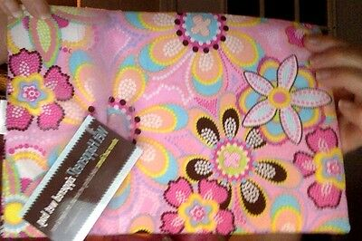 Wet Happened Zippered Wet Bag - Pink Flowers NEW W/TAGS