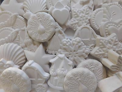 36 x medium size ready to paint plaster pieces/figurines