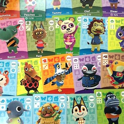 US Amiibo - Animal Crossing - Series 4 Cards Pick Your Own 317-350 Nintendo 3DS